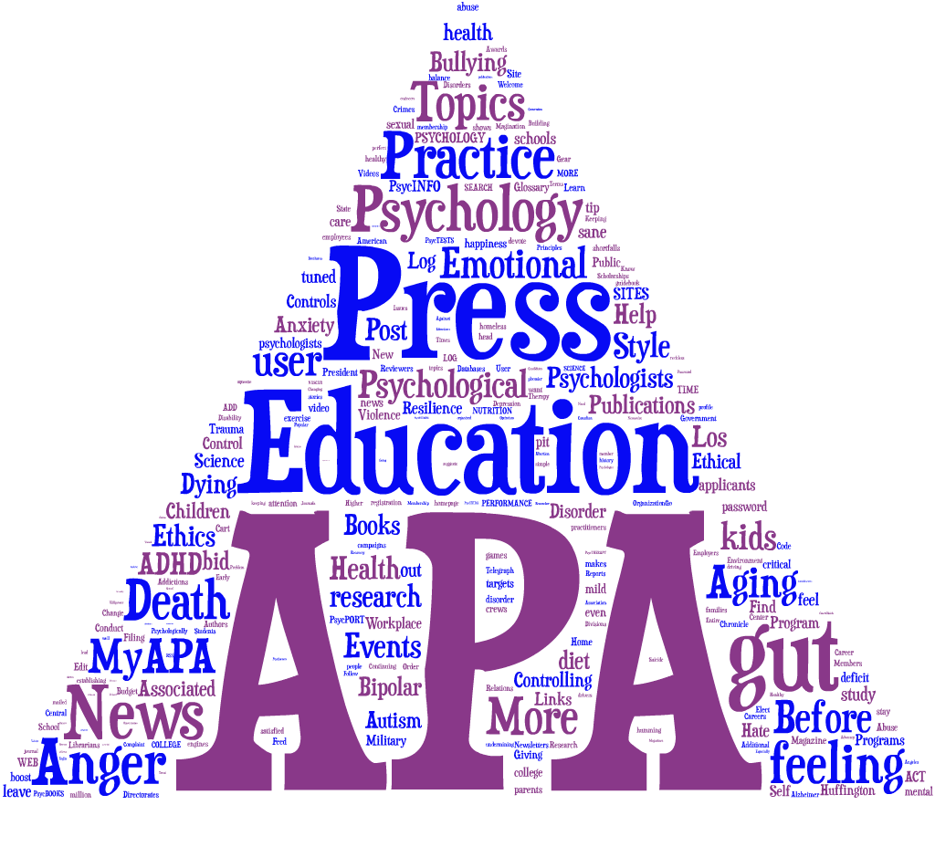 american psychological association Psychology definition of american psychological association (apa): a technical and legitimate enterprise formed in 1892 that.
