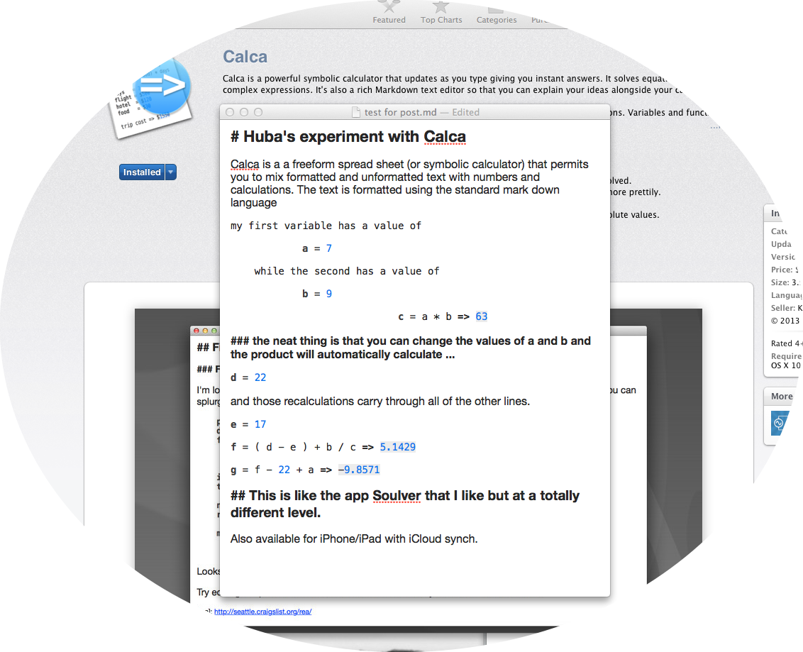 Calca a must have free form spreadsheet symbolic calculator calca a must have free form spreadsheet symbolic calculator for mac ipad iphone mind map review hubaisms bloopers deleted directors cut falaconquin
