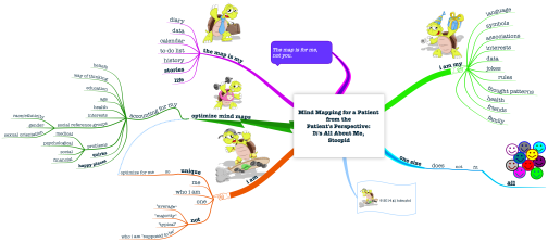 FINAL Mind Mapping for a Patient  from the  Patient's Perspective  It's All About Me,  Stoopid