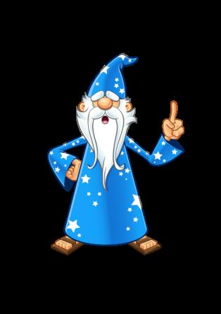 Blue Old Wizard - Having An Idea