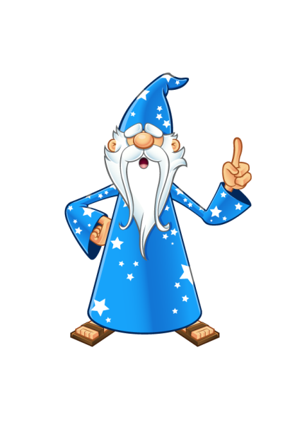 Blue Old Wizard - Having An Idea