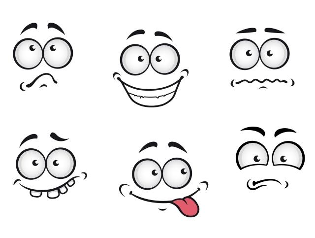 Cartoon emotions faces