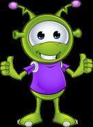 Little Green Alien - Two Thumbs Up