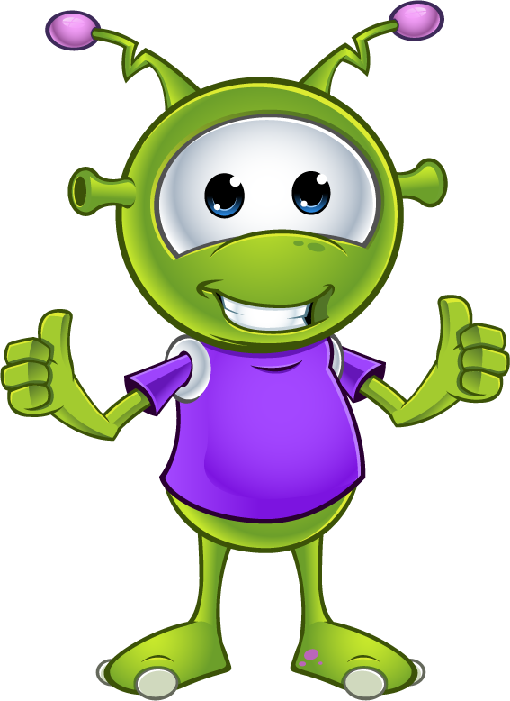 Little Green Alien - Two Thumbs Up