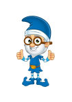 Old Elf In Blue - Two Thumbs Up