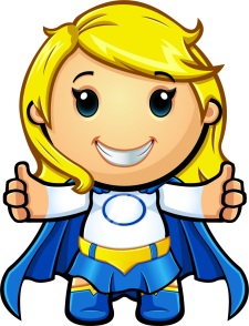 Blue And White Super Girl - Two Thumbs Up